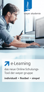 Informationsflyer e-Learning weyer akademie